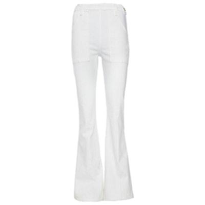 Frame Le Flare White Jeans