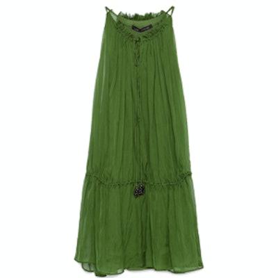 Silk Dress with Tassels