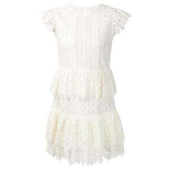 Layered Ruffle Lace Dress