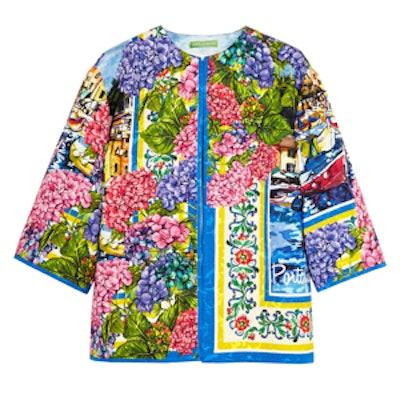 Portofino Printed Brocade Jacket
