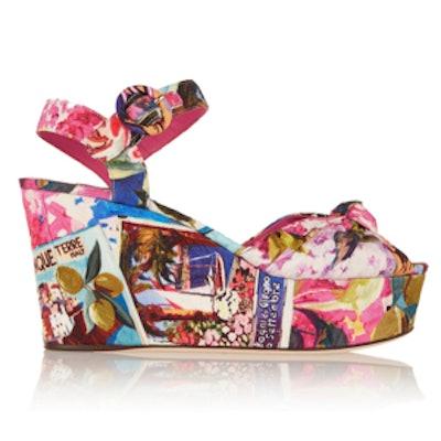 Portofino Faille Wedge Sandal
