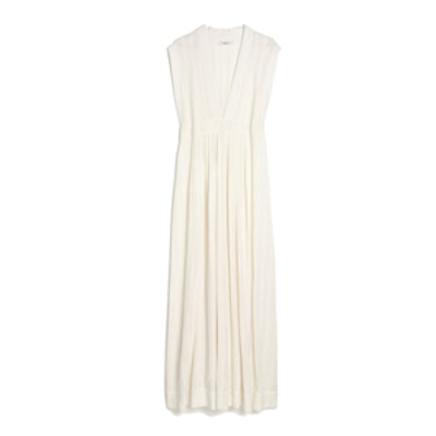 Dominica Cover-up Maxi Dress in Pearl Ivory