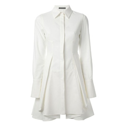 Pleated A-Line Coat