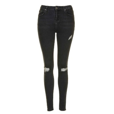 Moto Washed Black Ripped Jamie Jeans