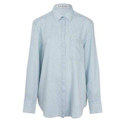 Light Blue Addle Oversize Denim Shirt
