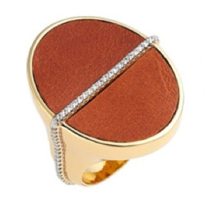 Alana Leather Ring