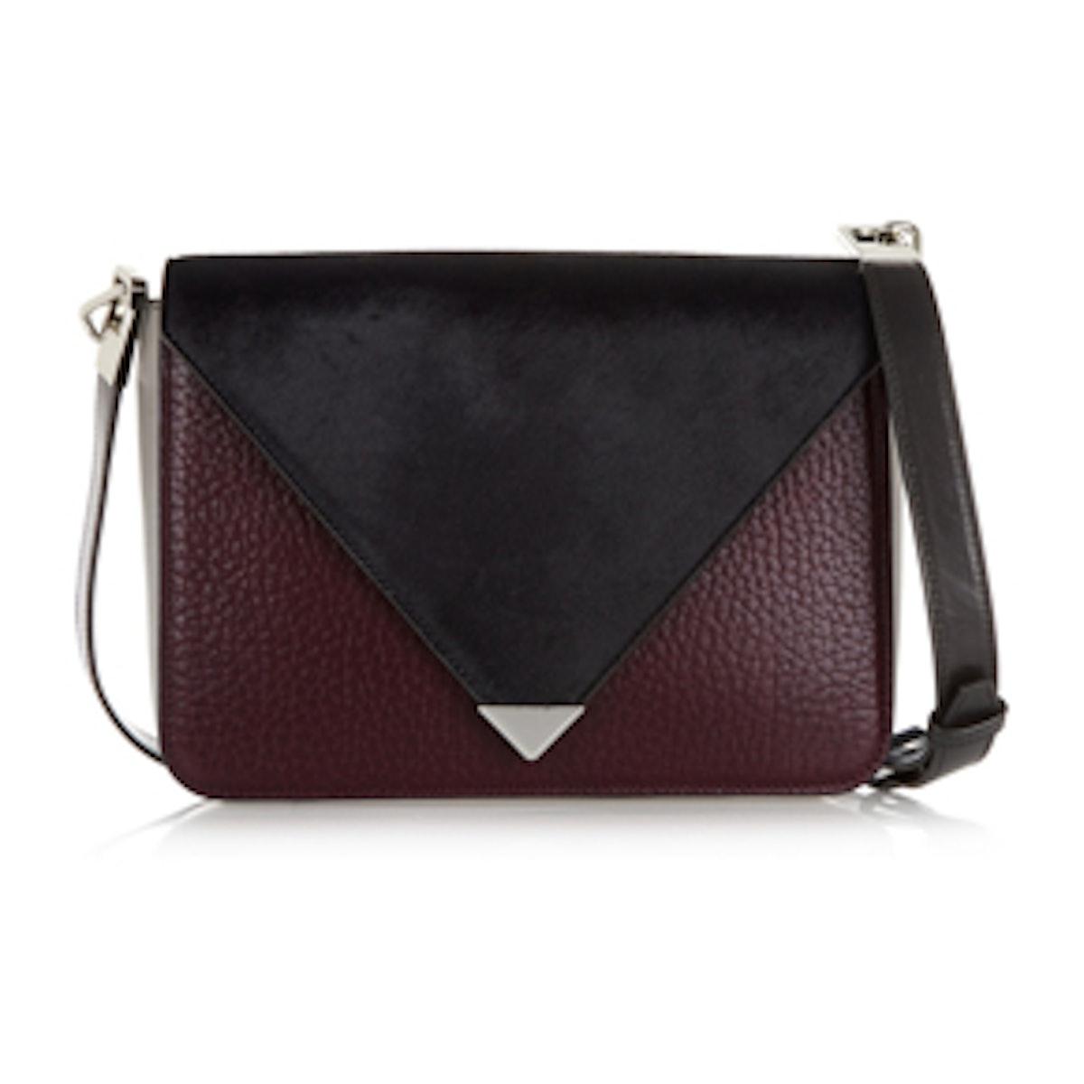 Prisma Leather And Calf Hair Shoulder Bag
