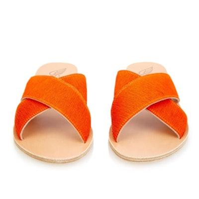Thais Calf-Hair Sandals