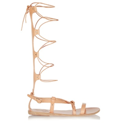 Sofia High Lace-Up Leather Sandals
