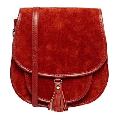 Suede 70s Saddle Shoulder Bag