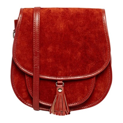 Suede 70s Saddle Shoulder Bag