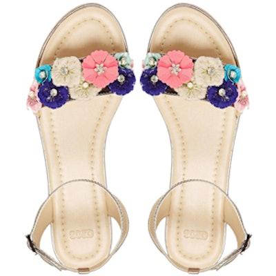 Fairmont Floral Embellished Sandals