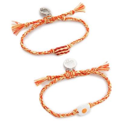 Bacon + Eggs Friendship Bracelet Set