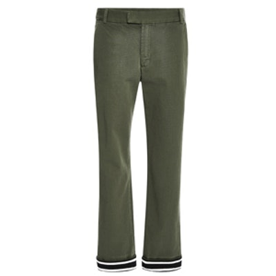 Cropped Contrast Chinos