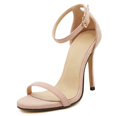 Nude Stiletto Heeled Sandal