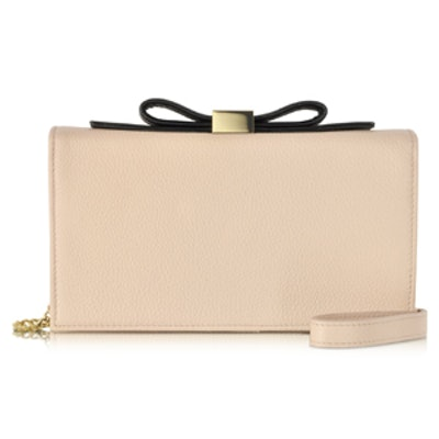 Nora Nude Leather Smart Clutch