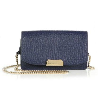 Madison Small Pebbled Leather Chain Clutch