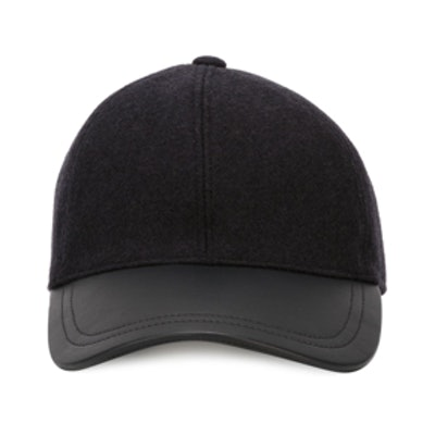 Leather Peak Baseball Cap