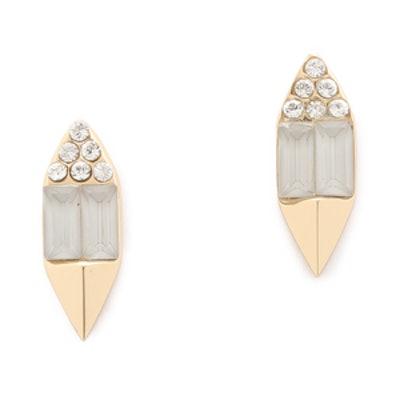 Crystal Gem Stud Earrings