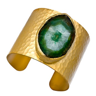 Emerald Green Agate Cuff