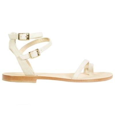 Carrubina Sandals in Ivory