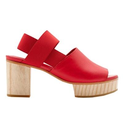 Wood-Heel Sandals