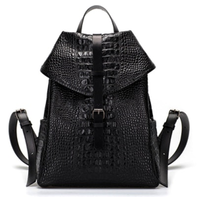 Croc Leather Backpack