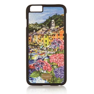 Portofino Printed Leather Iphone 6 Plus Case