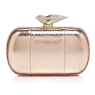 Snake Embossed Clutch