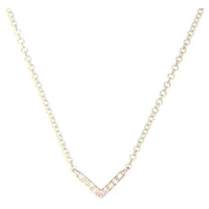 Mini Diamond Chevron Necklace