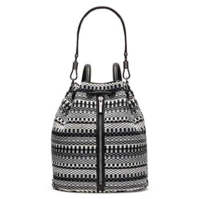 Cynnie Woven Bucket Bag