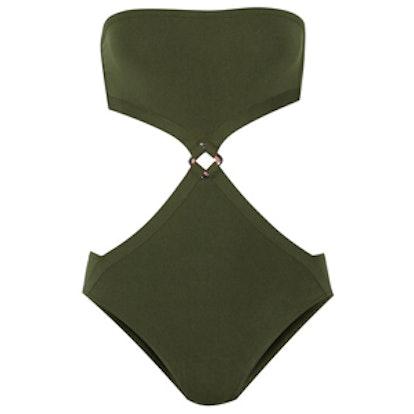 Satellite Cutout Bandeau Swimsuit