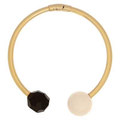 Gold-Plated Agate And Resin Choker
