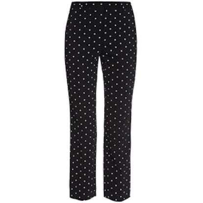 Cross-Print Cady Trousers