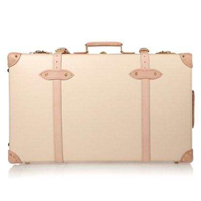 Safari Leather-Trimmed Fiberboard Travel Trolley