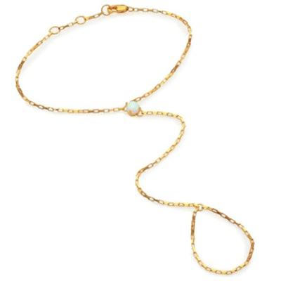 Victoria Opal Hand Chain Bracelet