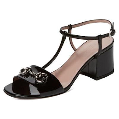 Patent Leather Horsebit T-Strap Sandal