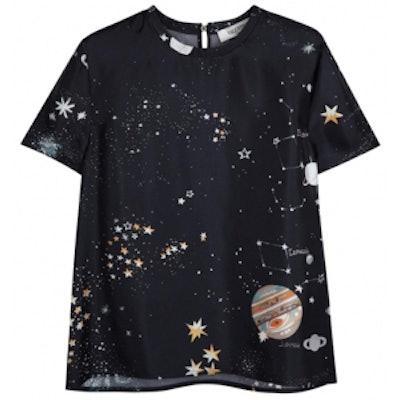 Cosmo Printed Silk T-Shirt