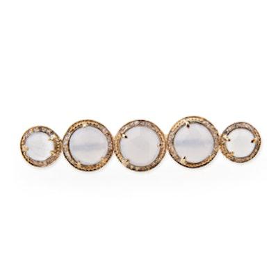 Graduated Moonstone Knuckle Ring