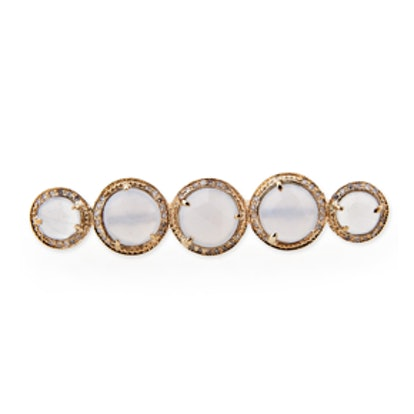 Graduated Moonstone Knuckle Ring
