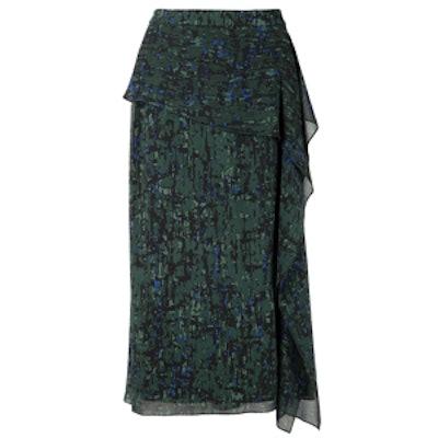 Draped Ruffle Skirt