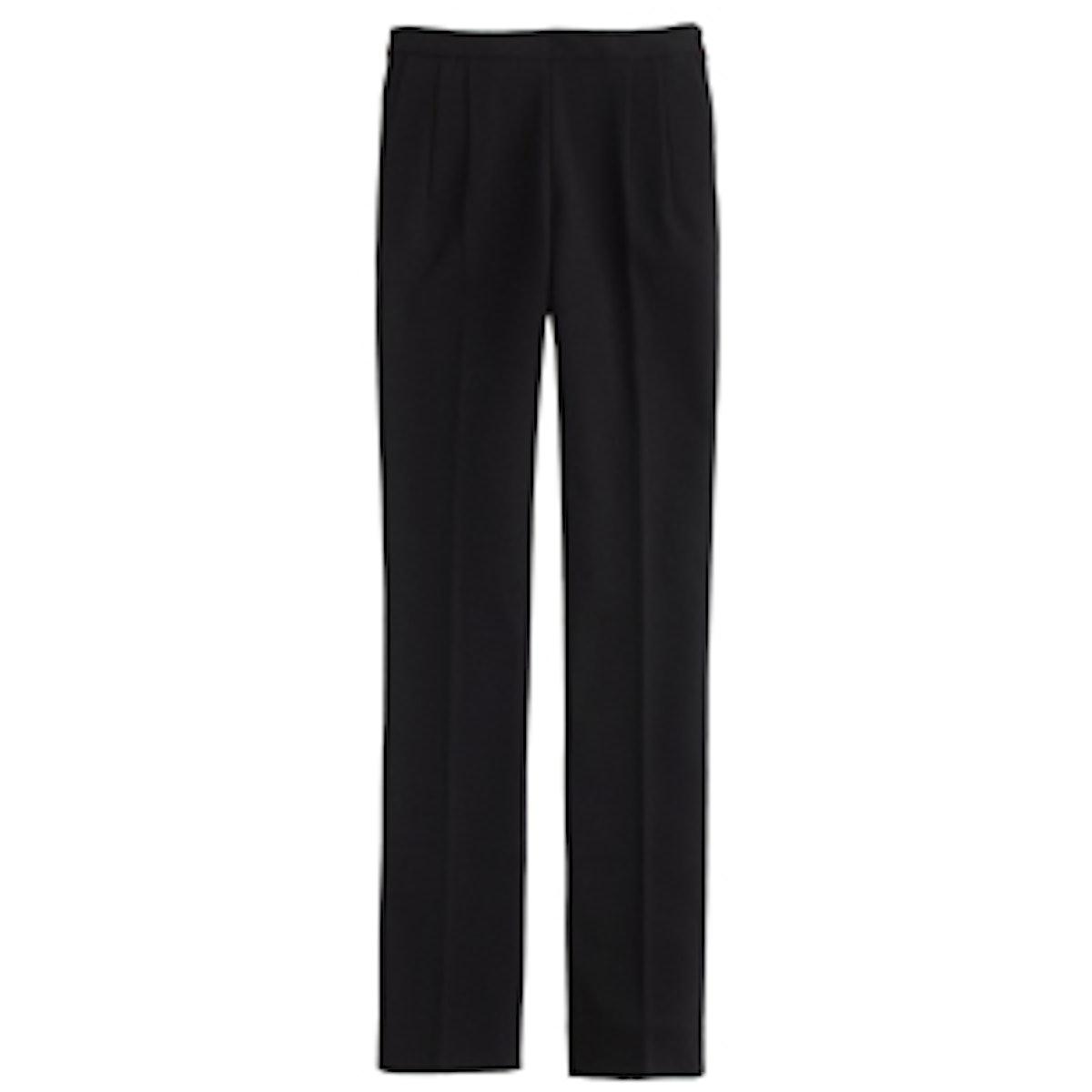 Back-Zip Pant in Bonded Crepe