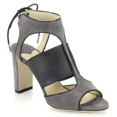 Moira Suede & Patent Leather Heels