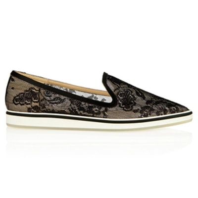 Black Lace Loafers