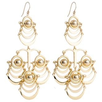 Orbit Chandelier Earrings in Gold