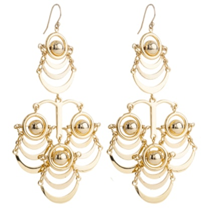 Orbit Chandelier Earrings in Gold