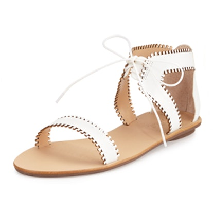 Sofia Leather Lace-Up Sandal