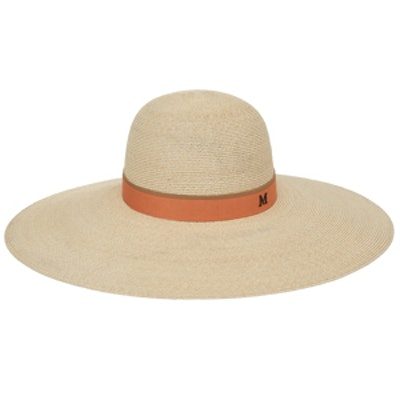 Blanche Capeline Hemp Double Ribbon Hat