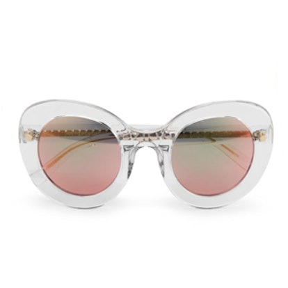 Sun Sunglasses With Peach Mirror Lens