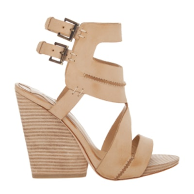 Seamed Leather Wedges